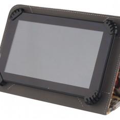Husa cu stand universala reglabila (model Oldschool - Grumpy Cat) pentru tablete de 7 - 8 inch