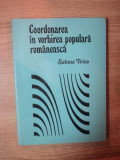 COORDONAREA IN VORBIREA POPULARA ROMANEASCA de SABINA TEIUS