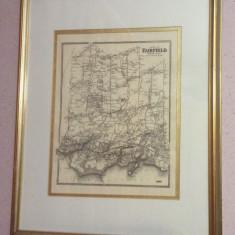 Harta  FAIRFIELD  ( 1868 ) ANGLIA