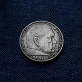 3o - Germania 5 Reichsmark 1935 d, marci germane argint WW2 mark