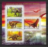 România - 2005 - LP 1675a - Dinozauri din Țara Hațegului - bloc MNH