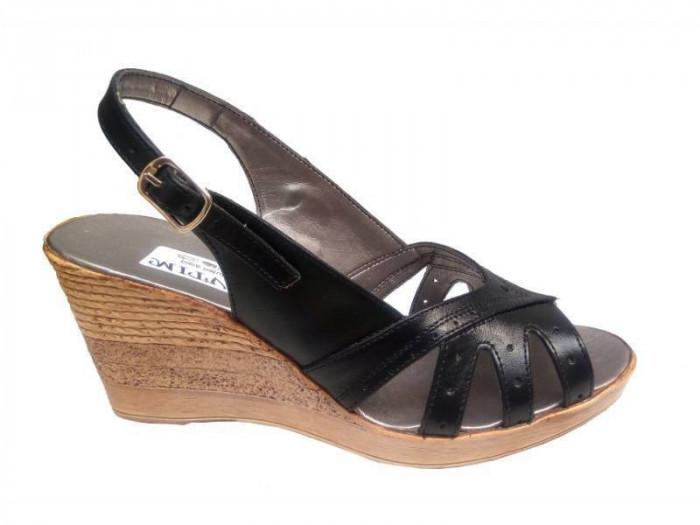 Sandale dama din piele naturala cu platforma - S89N