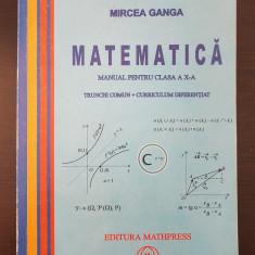 MATEMATICA MANUAL CLASA A X-A. Trunchi comun + Curriculum Diferentiat - Ganga