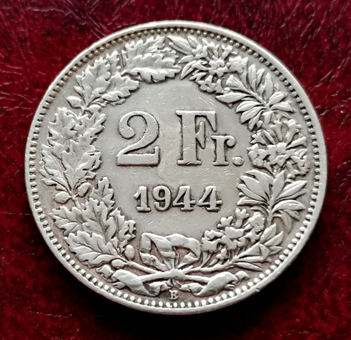 ELVETIA - 2 Franci 1944 B ( Francs - Franken ) Argint