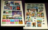 Clasor cu 350 timbre straine nestampilate + 19 colite + 1 bloc, serii complete