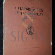 P. P. PANAITESCU - CALATORI POLONI IN TARILE ROMANE, 1930