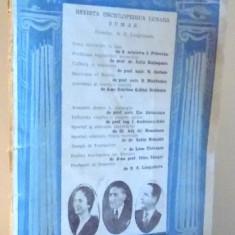 CONFERENTA, REVISTA ENCICLOPEDICA LUNARA, NR 9-10 , 1943