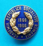 Insigna Superba Epoca de Aur RSR ACADEMIA Republicii Socialiste Romania 1966