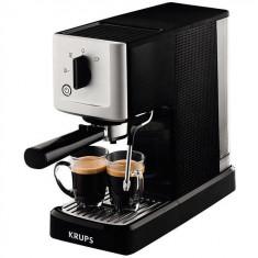 Espressor manual Calvi XP3440, 1460 W, 15 bar, 1.1 L, negru/argintiu