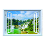 Cumpara ieftin Sticker fereastra fantezie 3D, 150 x 100 cm, cascada peisaj