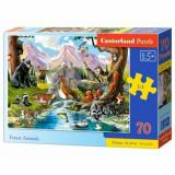 Cumpara ieftin Puzzle Animalele Padurii, 70 piese
