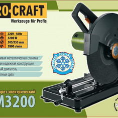 Fierastrau electric pentru debitat metal Procraft AM3200, 3200W, 355mm