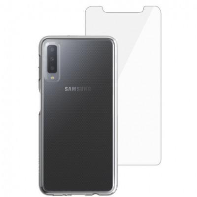 Husa + folie de protectie Skech Matrix SE pentru Samsung Galaxy A7 (2018) Clear foto