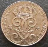 Moneda istorica 2 ORE - SUEDIA, anul 1950 *cod 2572 - varianta din FIER, Europa