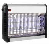 Aparat UV antiinsecte Home IKM50, Tub 16 W, Raza actiune 50 mp, Antitantari (Negru/Alb)