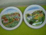 Portelan Villeroy & Boch, superbe 2 farfurii decorative cu anotimpuri