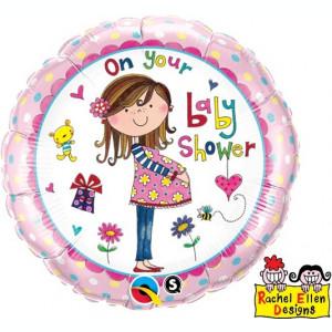 Balon botez On your baby shower din folie 43cm