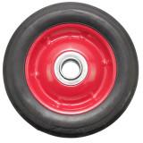 Roata pentru carucior, cu rulment, cauciuc brut, 7 x 1.5, negru/rosu, 00025