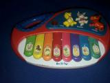 jucarie vintage copii,jucarie tip pianina cu animalute-Functionala,stare foto,TG
