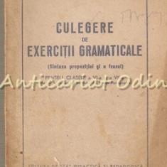 Culegere De Exercitii Gramaticale (Sintaxa Propozitiei Si A Frazei)