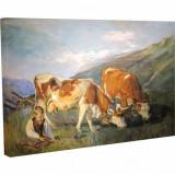 Tablou Canvas, Animale la Pascut - 20 x 25 cm
