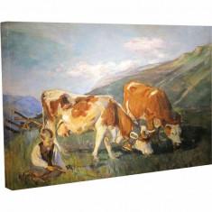 Tablou Canvas, Animale la Pascut - 80 x 100 cm