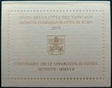 VATICAN moneda 2 euro comemorativa 2017 - Aparitiile de la Fatima, folder BU, Europa, Cupru-Nichel