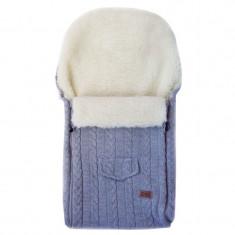 Husa de iarna din lana pentru carucior Eko Gri