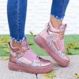 Sneakers dama cu platforma roz Acira -rl