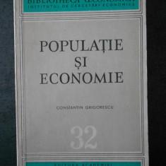 CONSTANTIN GRIGORESCU - POPULATIE SI ECONOMIE