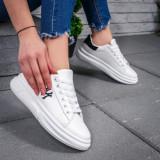 Pantofi sport dama albi Basilia