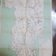 Vâlcea, Hartă Color,  Băile Olănești, Brezoi, Căimăești1969
