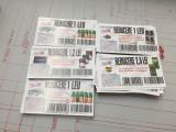 Lot 700 tichete - vouchere - cupoane Reducere