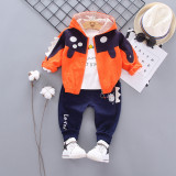 Trening pentru baietei cu hanorac portocaliu - Dino (Marime Disponibila: 2 ani)