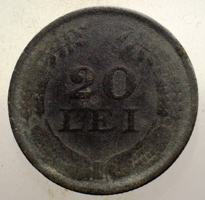 1.749 ROMANIA WWII 20 LEI 1942 ZINC foto
