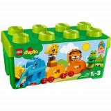 Set de constructie LEGO Duplo Prima Mea Cutie de Caramizi cu Animale
