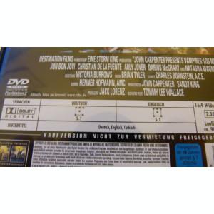 vampires -john cartenters - dvd