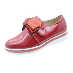 Pantofi eleganti fetite MRS R1625R, Rosu
