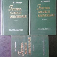R. I. GRUBER - ISTORIA MUZICII UNIVERSALE 3 volume, editie cartonata