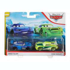 Set 2 masinute metalice Spikey Fillups si Chase Racelott Cars 3