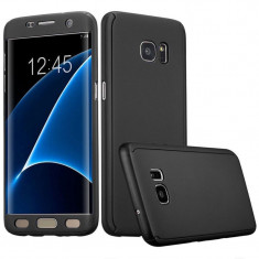 Husa Samsung Galaxy A7 2017 Flippy Full Cover 360 Negru + Folie de protectie
