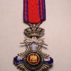 Ordinul Steaua Romaniei Cavaler Militar pe timp de Pace Primul TIP Email Superb