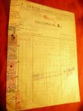 Factura cu Antet Firma Iancu- Comert Fierarie Bucuresti 1943 cu12 timbre fiscale