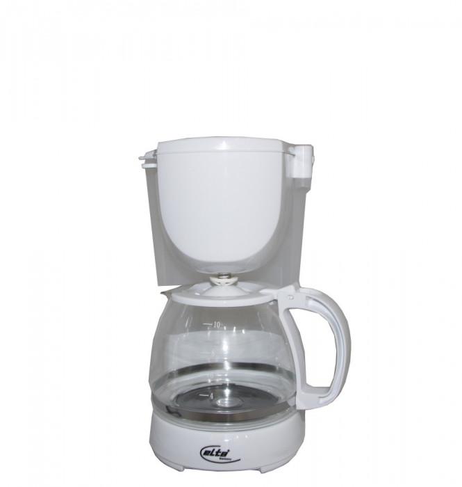 Cafetiera KM-1000.2 Elta, 750 W, Capacitate 1.25 L, 10 cesti, Functie mentinere la cald, Functie antipicurare, Alb