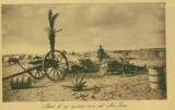 WW1 MILITARi TUN REMAINS OF A TURKISH CANNON IN AIN-ZARA REAL OLD POSTCARD