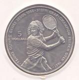 Moneda Niue 5 Dolari 1987 - KM#5 UNC ( Jocurile Olimpice Seul - Steffi Graf )
