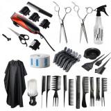 Set kit frizerie coafor COMPLET cu foarfeca profesionala tuns filat masina tuns