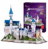 Cumpara ieftin Puzzle 3D Led - Castelul Neuschwanstein, 128 piese, CubicFun