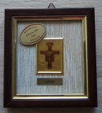 Tablou IISUS PE CRUCE - foita de aur