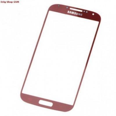 Carcasa (Sticla) Geam Samsung i9500 Galaxy S4 Rosu Orig China foto